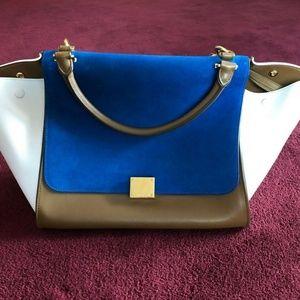 Celine Trapeze Bag Bright Blue